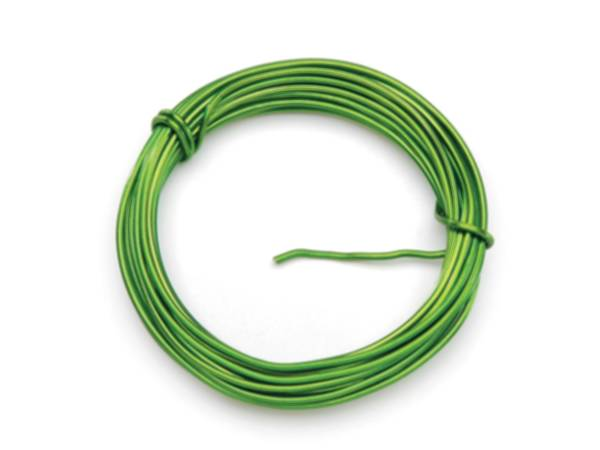 Apple Green Small Coil Floral Wire